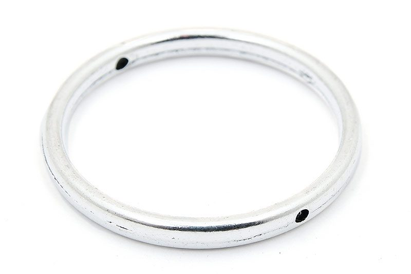 Stor ring connecter/berlock, Silverpläterad 32mm