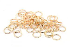 Ljust guldläterade Bindringar 6mm