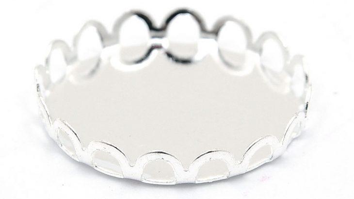 Silverpläterad stomme utan fäste, 20mm