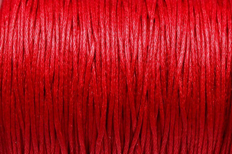 Vaxad Bomullstråd Röd