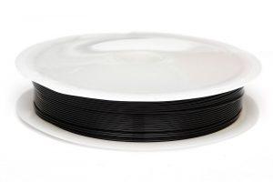 Koppartråd 0.5mm, 10m, Svart