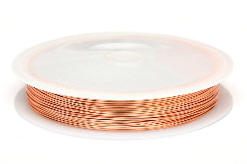 Koppartråd 0.5mm, 10m, Kopparfärg