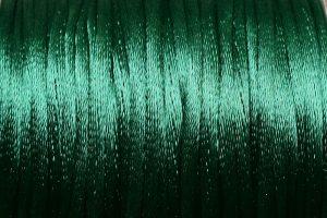 Satintråd Rattail Mörkgrön 2mm