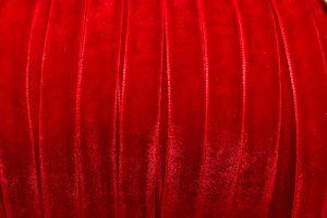 Sammetsband 10mm, Röd
