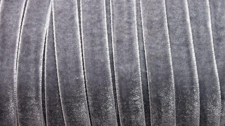 Sammetsband 10mm, Grå