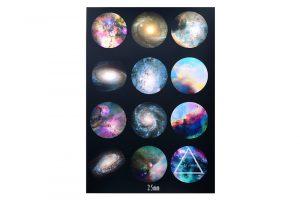 Bakgrundsbilder för bildsmycken, 12st 25mm, SPACE