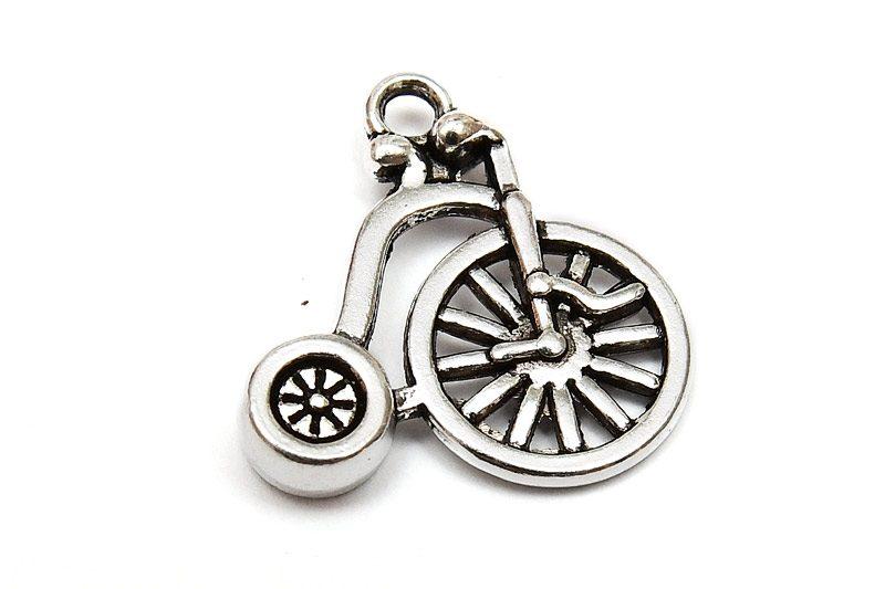 Antiksilver berlock Höghjuling cykel