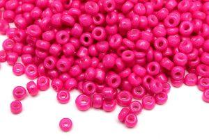 Seed beads 8/0, 3mm, Opak cerise silky