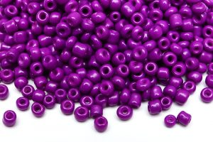 Seed beads 8/0, 3mm, Opak lila silky