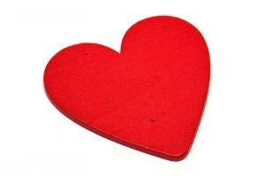Trähjärta rött 48mm