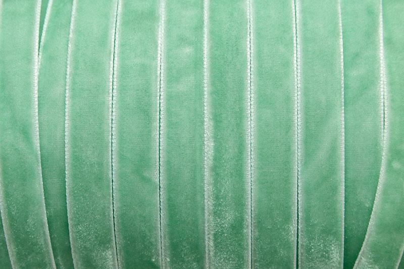 Sammetsband 10mm, Mintgrön