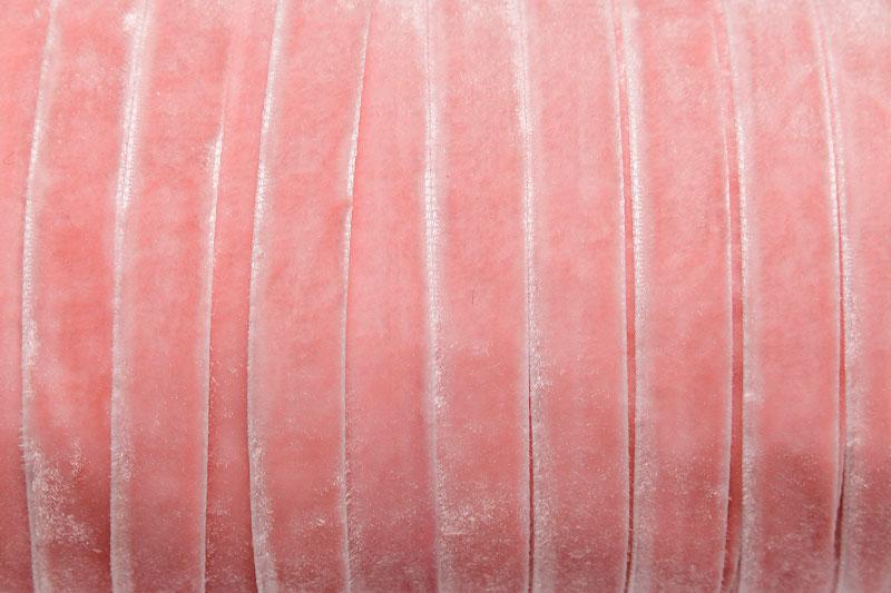 Sammetsband 10mm, Ljusrosa