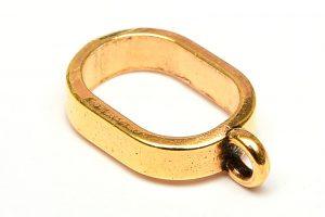 Guldpläterad berlockhängare stor ögla 13mm
