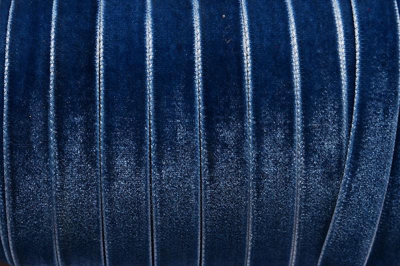Sammetsband 10mm, Montanablå