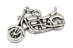 Antiksilver berlock Motorcykel