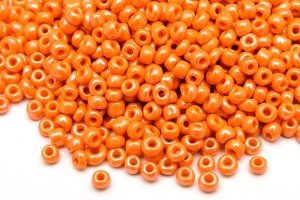 Seed beads 8/0, 3mm, Opak orange Lustre