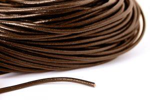 Äkta lädersnöre 4mm Brun