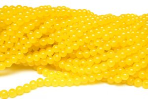 Jadeimitation Runda 8mm Citron