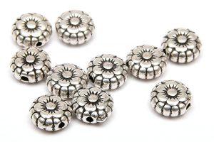Metallpärlor Blommor med ram