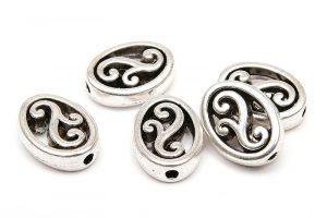 Metallpärlor med swirls