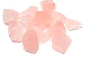 Råhuggen Rosenkvarts, stor kristall utan hål