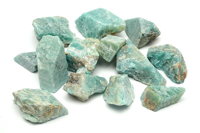 Råhuggen Amazonit, stor kristall utan hål