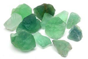 Råhuggen Grön Fluorit stor kristall utan hål