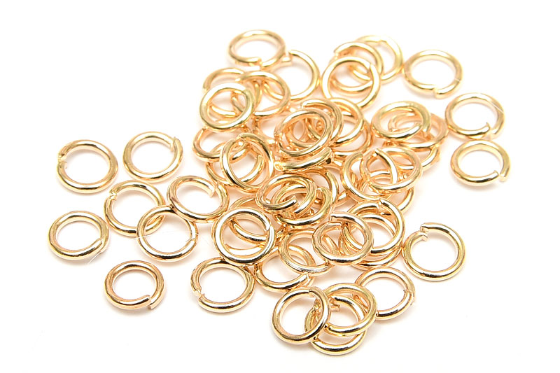 Ljus guld bindringar 4mm