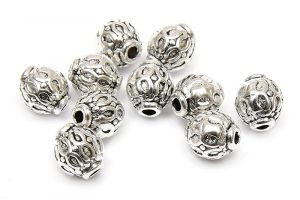 Metallpärlor Runda korgar 6x5mm