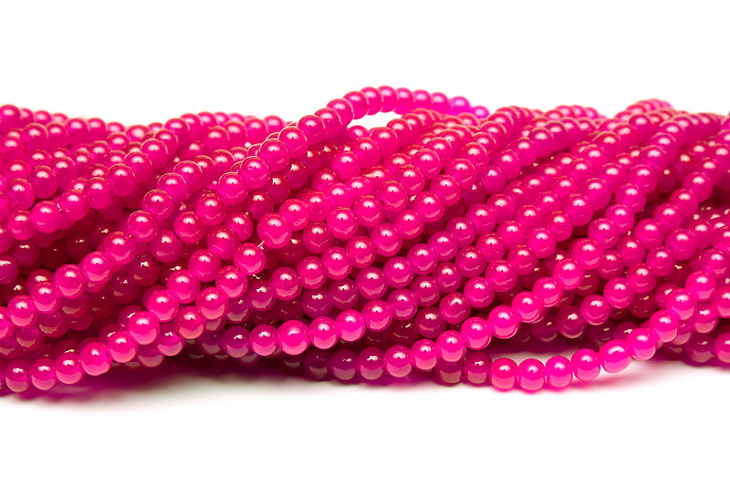 Jadeimitation Runda 4mm Magenta