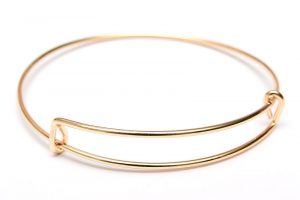 Ljus guld armbandsstomme justerbar 65mm