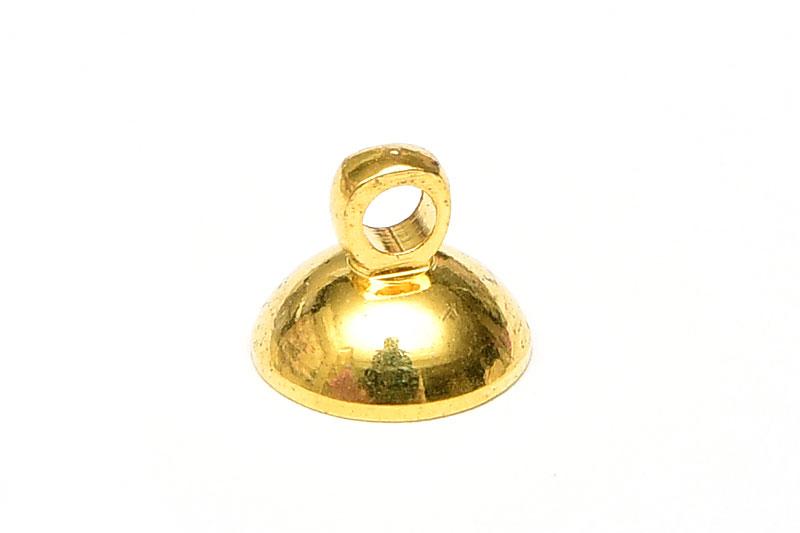 Guldpläterad fästögla 8mm
