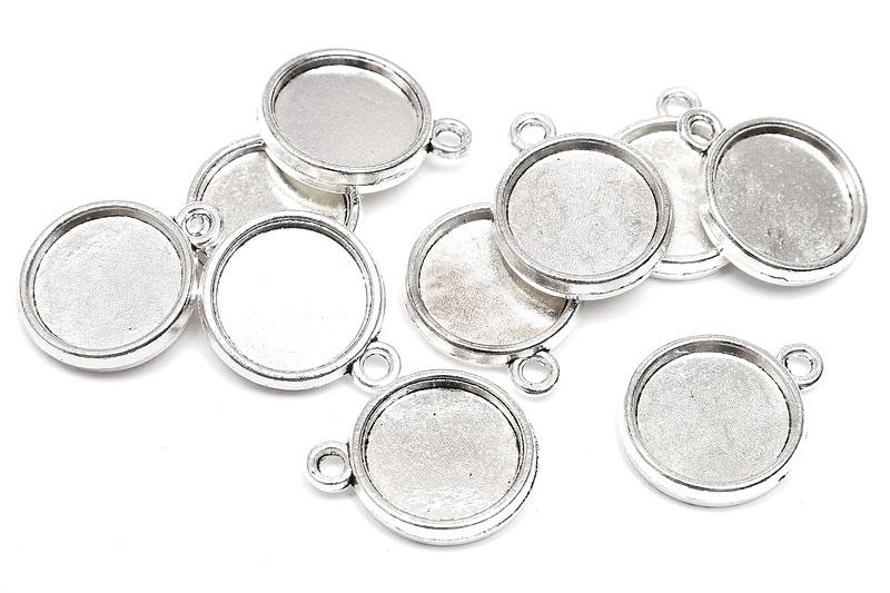 Silverpläterade stommar 12mm Dubbelsidig