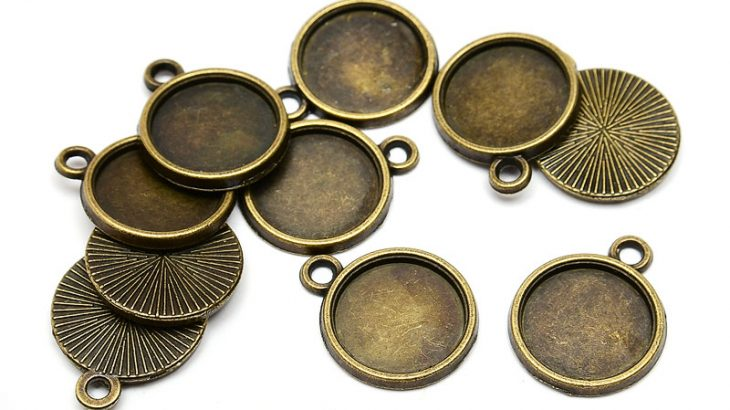 Vintage stommar 12mm, 10st