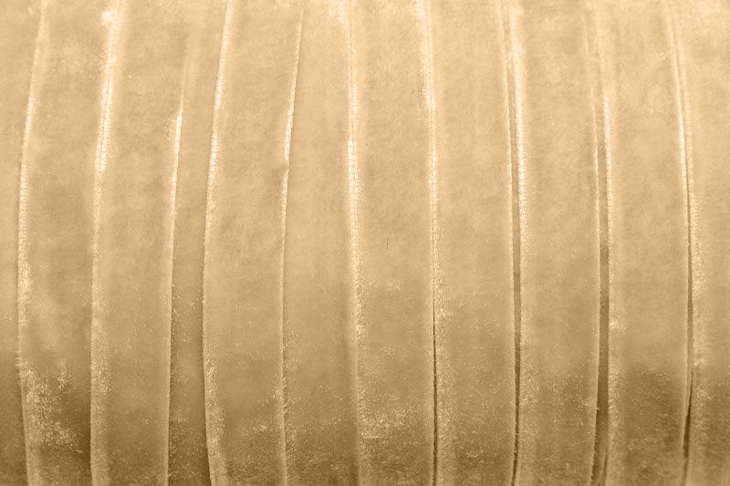 Sammetsband 10mm, Creme