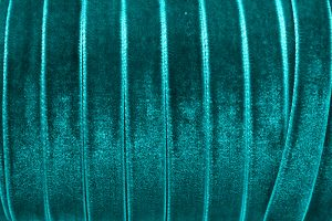 Sammetsband 10mm, Teal