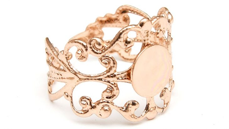 Roséguld ringstomme Filigran