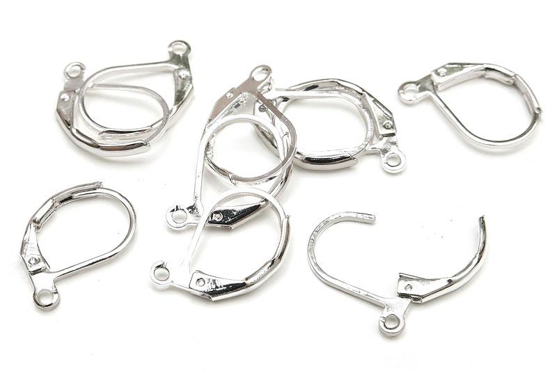 Silverpläterade öronkrokar Brisyrer
