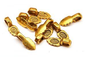 Fäste Bail för stommar Guldpläterad