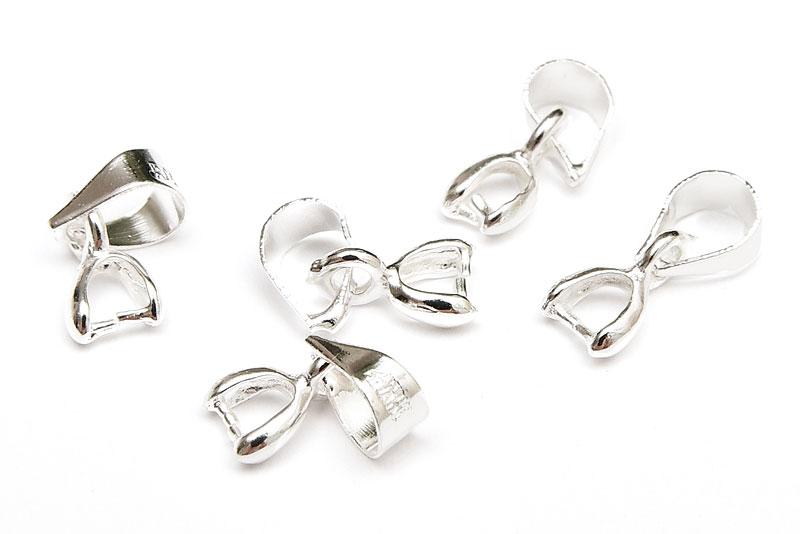 Silverpläterade bails med fäste för berlock, 11mm