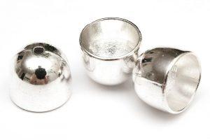 Silverpläterad stora pärlhattar