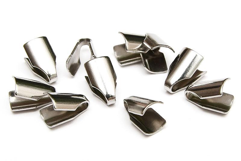 Antiksilver Ändklämmor Rostfritt stål