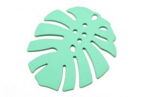 Stort metallblad med grön färg, Monstera