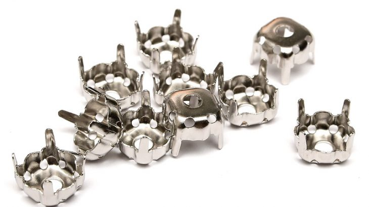 Antiksilver infattning, för 10mm strass. 10st