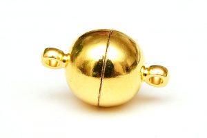 Guldpläterat magnetlås 10mm