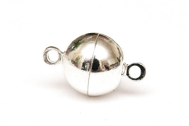 Silverpläterat magnetlås 10mm