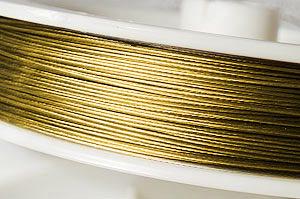 Plastad Wire 0.38mm Guld