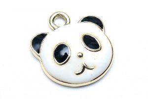 Emaljerad berlock Panda