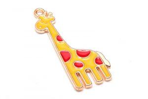 Emaljerad berlock Giraff Gul