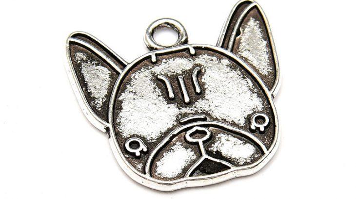 Antiksilver berlock, Fransk Bulldog